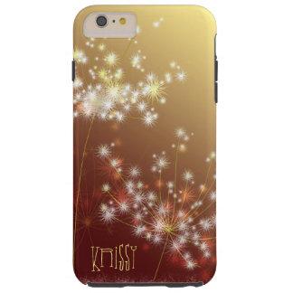 Autumn Glitters Elegant Dandelion Tough iPhone 6 Plus Case