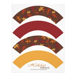 Autumn Glory Cupcake Wrapper Custom Flyer