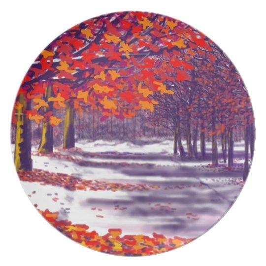 Autumn Glory Melamine Plate