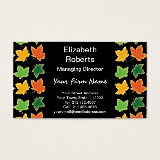 Autumn Glow Fall Foliage Maples Leaf Pattern Business Card