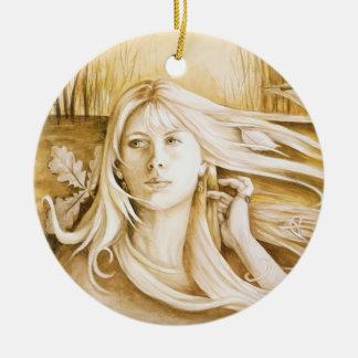 """""""Autumn"""" Goddess Ornament / Pendant"""