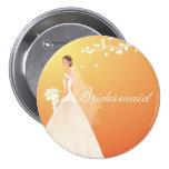 Autumn Gold Bride Bridesmaid Bride Party Button