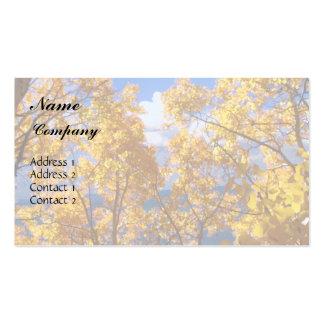 Autumn Gold Business Card