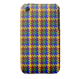 Autumn Gold Check iPhone 3 Cover