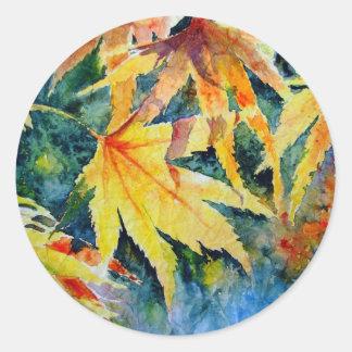 Autumn Gold Classic Round Sticker