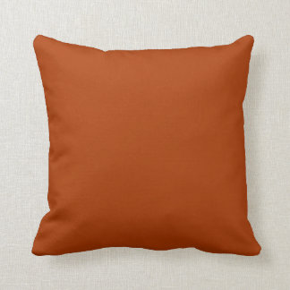 Autumn Gold Deep Rust Orange Color Only Throw Pillows
