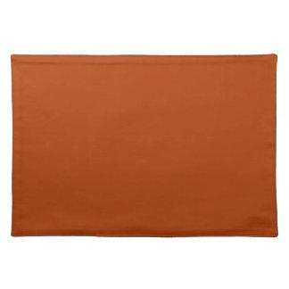 Autumn Gold Deep Rust Orange Color Only Placemats