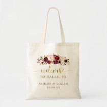 Autumn Gold Floral Wedding Destination Welcome Bag