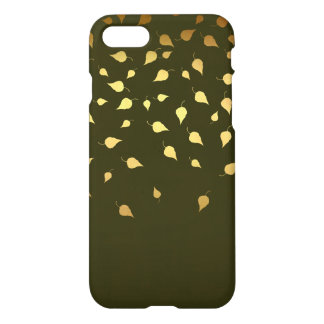 Autumn Gold Leaves Pattern iPhone 7 Case