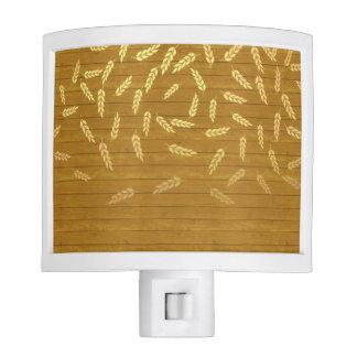 Autumn Gold Leaves Pattern Night Light
