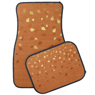 Autumn Gold Leaves/Pinecone Pattern Car Floor Mat