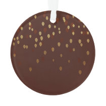Autumn Gold Leaves/Pinecone Pattern Ornament
