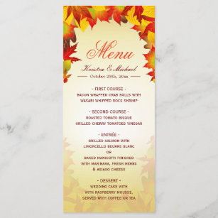 fall menu template gifts on zazzle
