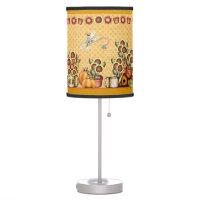 Autumn Gold Sunflower Yellow Country Prims Pumpkin Desk Lamp