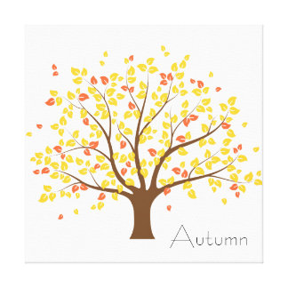 Autumn Gold Tree Stretched Canvas Prints