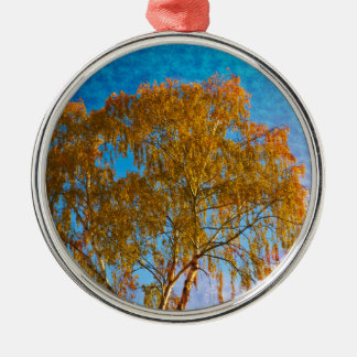 Autumn golden tree metal ornament