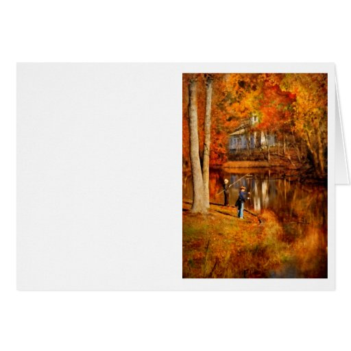 Autumn - Gone Fishing Cards
