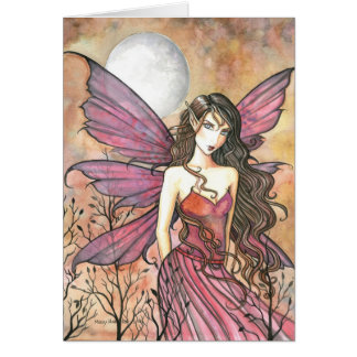 Autumn Gothic Fairy Card by Molly Harrison