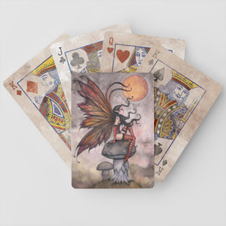 Autumn Gothic Fairy Fantasy Art Playing Cards
