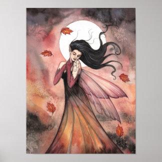 Autumn Gothic Fairy Fantasy Art Poster
