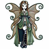 autumn, fairy, faerie, faery, fae, fairies, fantasy, art, photo, sculpture, pixie, gothic, boots, wings, faeries, Photo Sculpture with custom graphic design