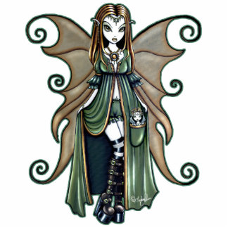 """Autumn"" Gothic Nature Fairy Art Standing Photo Sculpture"