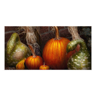 Autumn - Gourd - Family get together Photo Card