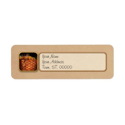 Autumn - Gourd - Fresh corn Label