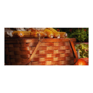 Autumn - Gourd - Fresh corn Personalized Rack Card