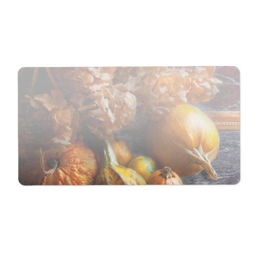 Autumn - Gourd - Still life with Gourds Shipping Label