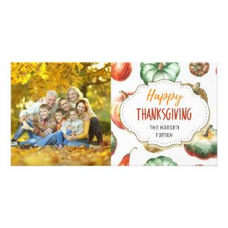 Autumn Gourds Happy Thanksgiving Photo Card