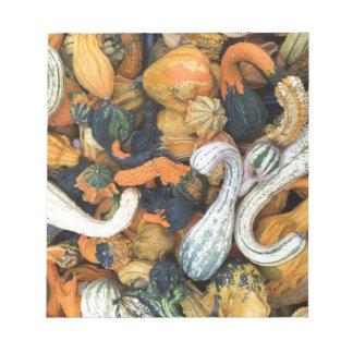 Autumn Gourds Notepad