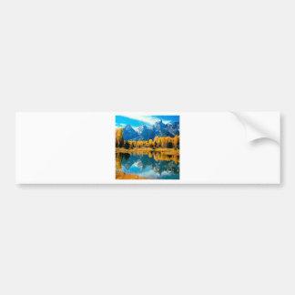 Autumn Grandeur Grand Teton Wyoming Bumper Sticker