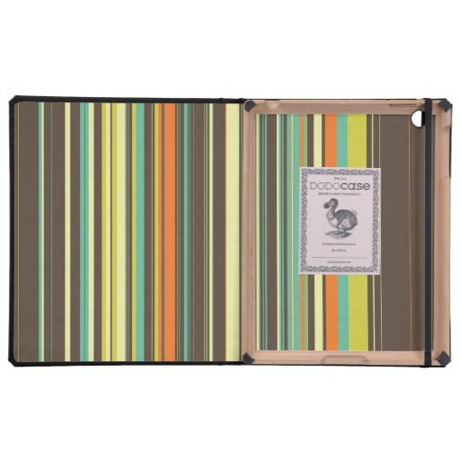 Autumn Grass Stripes Cover For iPad