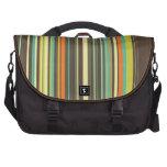Autumn Grass Stripes Laptop Bags