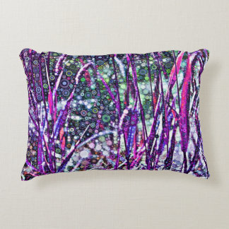 Autumn Grasses in Violet Accent Pillow