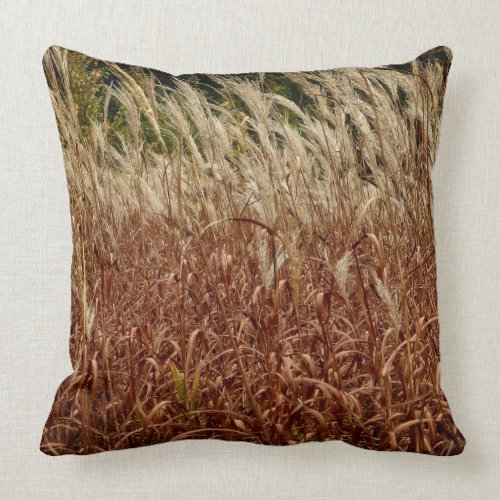 Autumn Grasses Throw Pillow