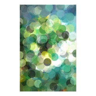 """Autumn Green Abstract Digital Art"" Stationery"