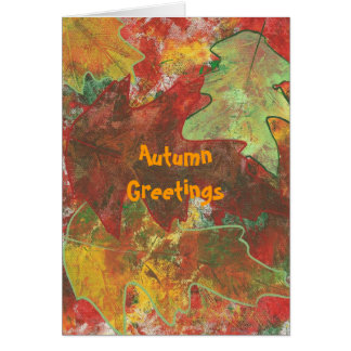 Autumn greetings - abstract oak leaves cards