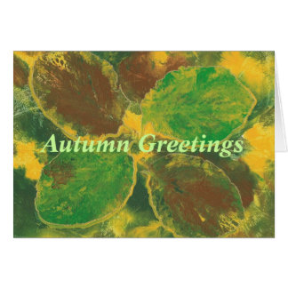 Autumn Greetings, Birch leaves, greeting cards