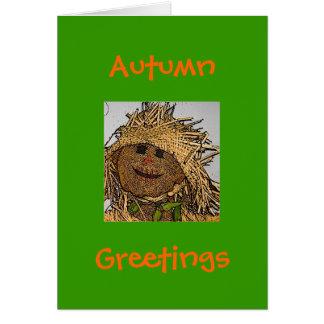 Autumn, Greetings Card-Scarecrow Design Greeting Card