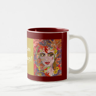 Autumn Greetings! MUG!! Two-Tone Coffee Mug