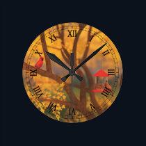 Autumn Guardian Clock