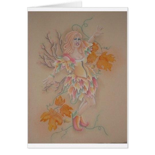 Autumn gypsy card