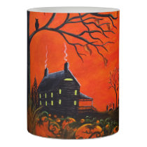 Autumn/Halloween battery operated candle