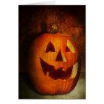 Autumn - Halloween - Jack-o-Lantern Greeting Card