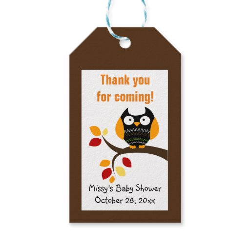 Autumn Halloween Owl Gift Tags