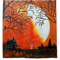 Autumn /Halloween shower curtain