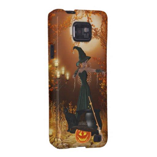 Autumn Halloween Witch Galaxy SII Case