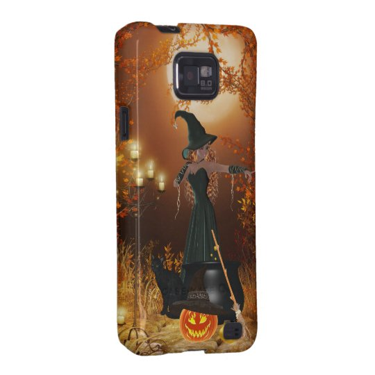 Autumn Halloween Witch Samsung Galaxy S2 Case
